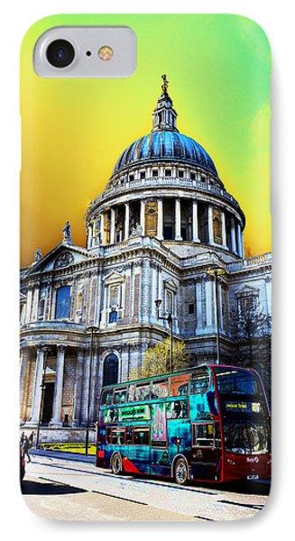 St Pauls Cathedral London Art Phone Case by David Pyatt