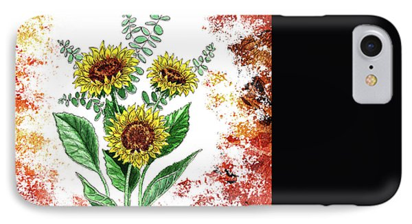 Sunflowers Phone Case by Irina Sztukowski