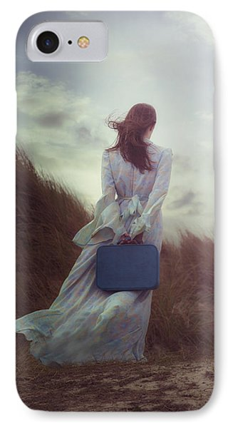 Woman With Suitcase Phone Case by Joana Kruse