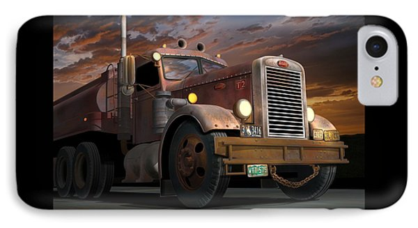 '55 Peterbilt Sunset IPhone Case by Stuart Swartz