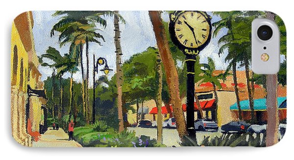 5th Avenue Naples Florida IPhone Case by Christine Hopkins