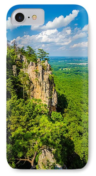 Beautiful Aerial Landscape Views From Crowders Mountain North Ca IPhone Case by Alex Grichenko