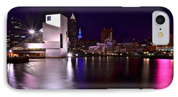 Cleveland Skyline Phone Case by Frozen in Time Fine Art Photography