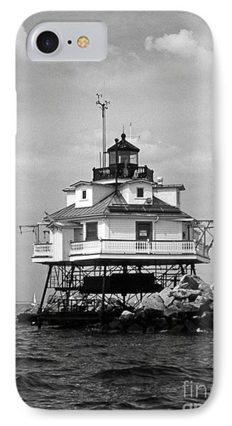 Thomas Point Shoal Lighthouse Phone Case by Skip Willits