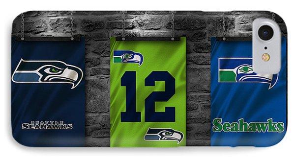 Seattle Seahawks IPhone 7 Case by Joe Hamilton