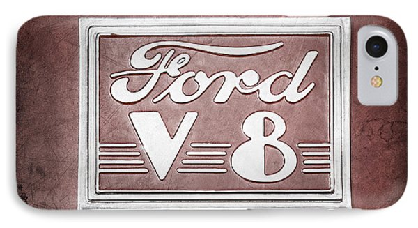 1940 Ford Deluxe Coupe Emblem IPhone Case by Jill Reger