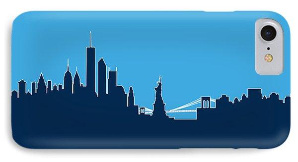 New York Skyline Phone Case by Michael Tompsett
