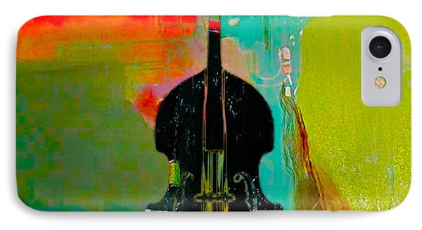 Upright Bass IPhone Case by Marvin Blaine