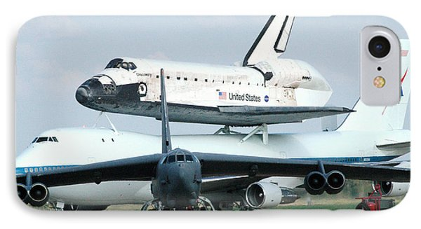 747 Transporting Discovery Space Shuttle IPhone Case by Science Source