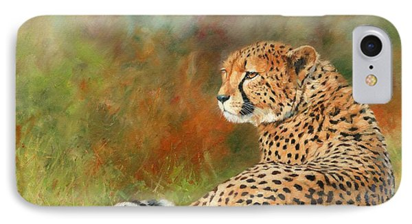 Cheetah IPhone 7 Case by David Stribbling