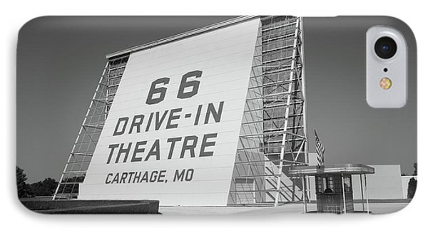 Route 66 - Drive-in Theatre Phone Case by Frank Romeo