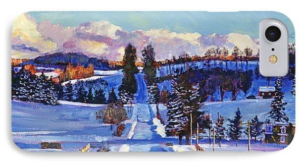 817 Canadian Winter Farm IPhone Case by David Lloyd Glover
