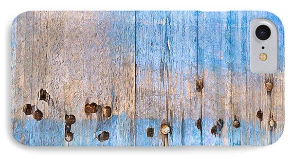 Blue Wood IPhone Case by Tom Gowanlock