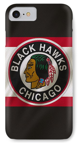 Chicago Blackhawks Uniform IPhone Case by Joe Hamilton