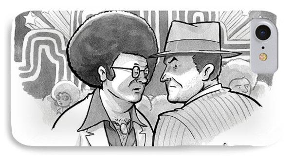 A 70's Disco Man Speaks To Jack Nicholson's IPhone Case by Benjamin Schwartz