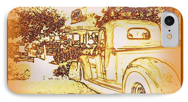 A And W Drive In Phone Case by Bobbee Rickard