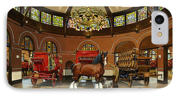 St. Louis Clydesdale Stables IPhone Case by Don  Langeneckert