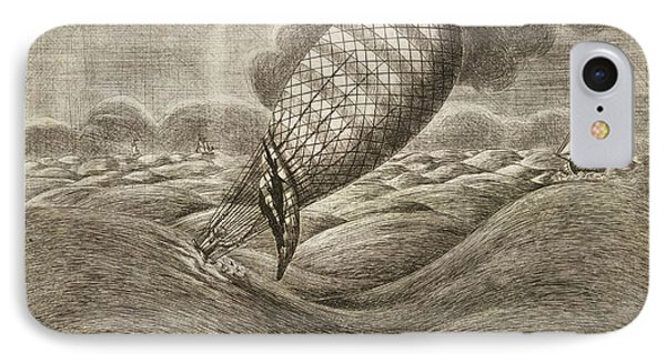 A Balloon In Danger At Sea IPhone Case by British Library