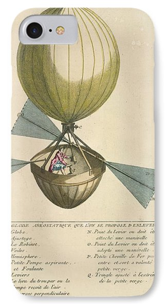 A Balloon With Oars IPhone Case by British Library