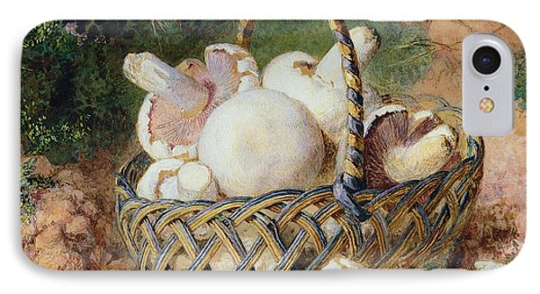 A Basket Of Mushrooms, 1871 IPhone Case by Jabez Bligh