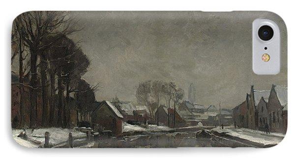 A Belgian Town In Winter IPhone Case by Albert Baertsoen