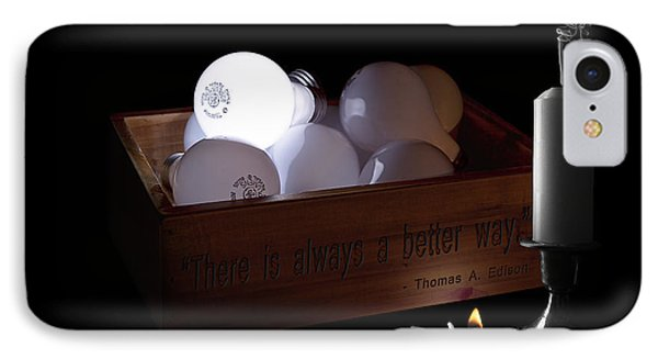 A Better Way Still Life - Thomas Edison IPhone Case by Tom Mc Nemar