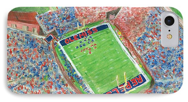 A Big Win In Oxford Ole Miss Alabama Game IPhone Case by Tay Morgan