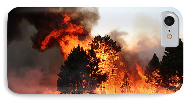 IPhone Case featuring the photograph A Burst Of Flames From The White Draw Fire by Bill Gabbert