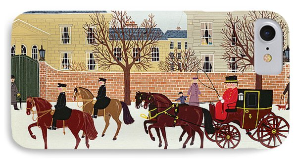 A Carriage Escorted By Police IPhone Case by Vincent Haddelsey