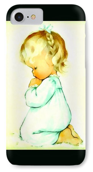 A Childs Prayer Duvet IPhone Case by Charlotte Byj
