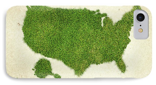 United State Grass Map Phone Case by Aged Pixel