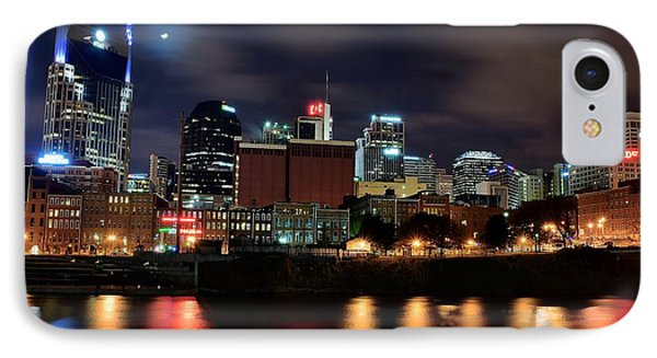 A Colorful Night In Nashville IPhone Case by Frozen in Time Fine Art Photography