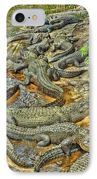 A Congregation Of Alligators IPhone 7 Case by Rona Schwarz