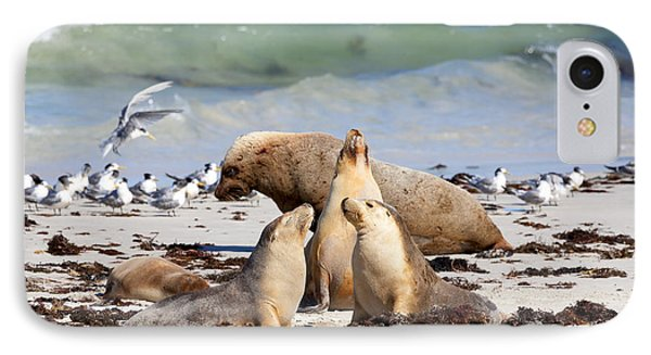 A Day At The Beach IPhone Case by Mike Dawson