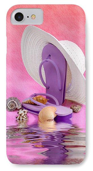 A Day At The Beach Still Life IPhone Case by Tom Mc Nemar