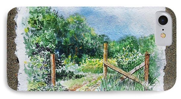 A Gate To The Ranch Briones Park California IPhone Case by Irina Sztukowski