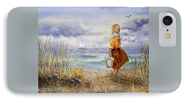 A Girl And The Ocean IPhone Case by Irina Sztukowski