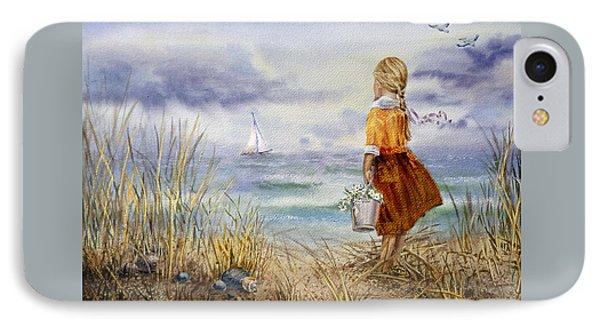 A Girl And The Ocean IPhone 7 Case by Irina Sztukowski