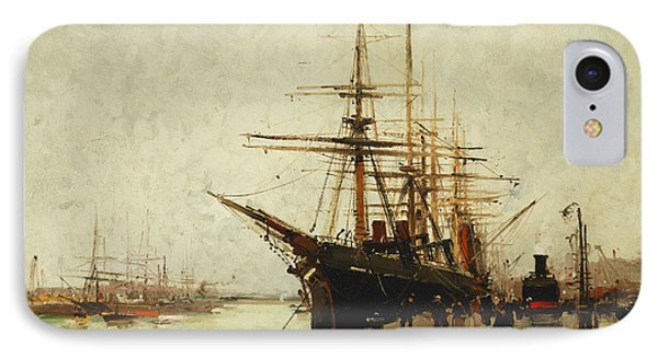 A Harbor Phone Case by Eugene Galien-Laloue