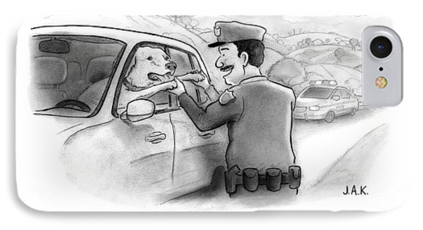 A Highway Police Officer Pulls Over And Plays IPhone Case by Jason Adam Katzenstein