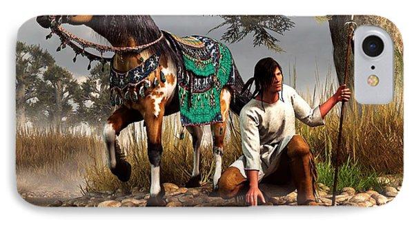 A Hunter And His Horse IPhone Case by Daniel Eskridge