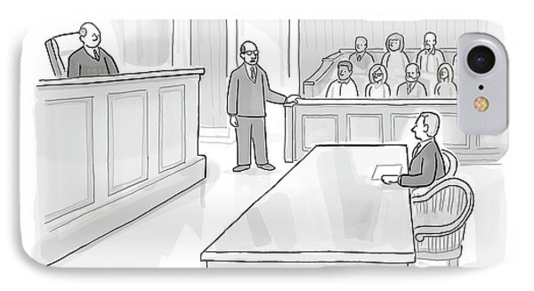 A Lawyer In Court Addresses The Jury IPhone Case by Paul Noth
