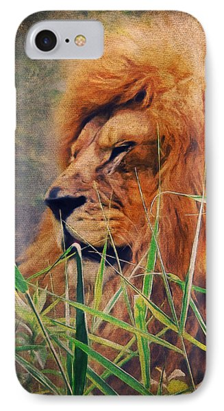 A Lion Portrait IPhone Case by Angela Doelling AD DESIGN Photo and PhotoArt