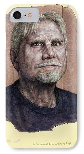 A Man Who Used To Be A Serious Artist IPhone Case by James W Johnson