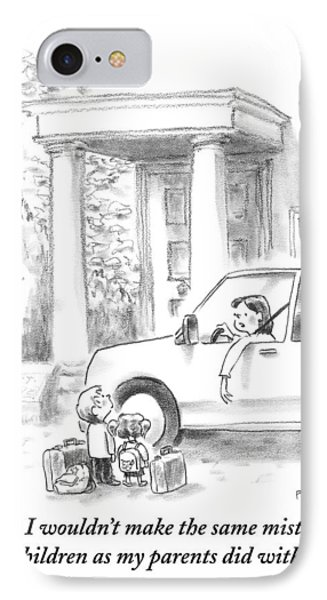 A Mother Drops Off Her Kids At Boarding School IPhone Case by Pat Byrnes