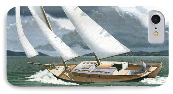 A Passing Squall IPhone Case by Gary Giacomelli