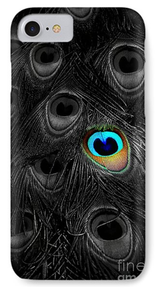 A Peacock Feather Phone Case by Mike Nellums