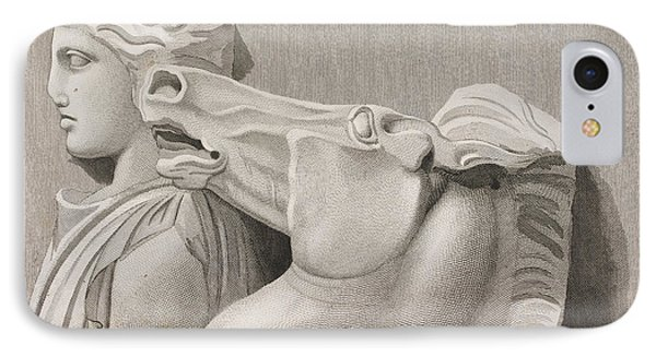 A Piece Of The Frieze Of The Parthenon IPhone Case by British Library