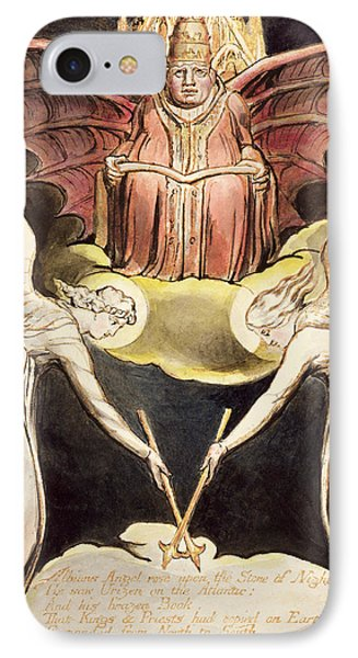 A Priest On Christ's Throne IPhone Case by William Blake