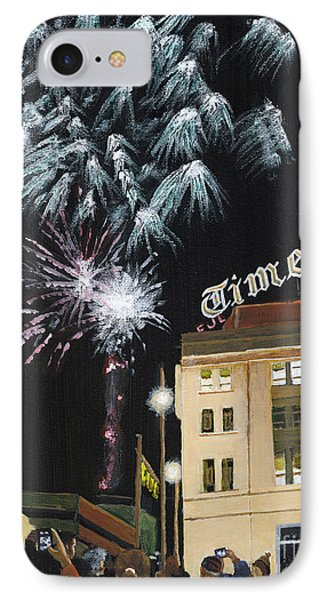 A Scranton Times Christmas IPhone Case by Austin Burke